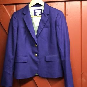 Purple J.Crew Schoolboy blazer 2